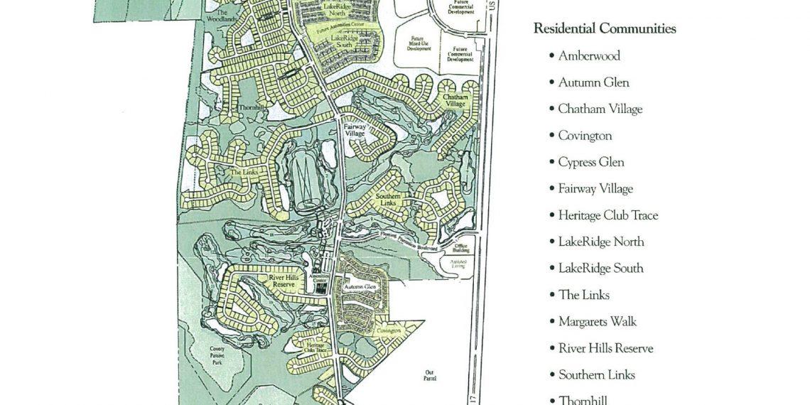 Fleming Island Plantation Master Plan Map